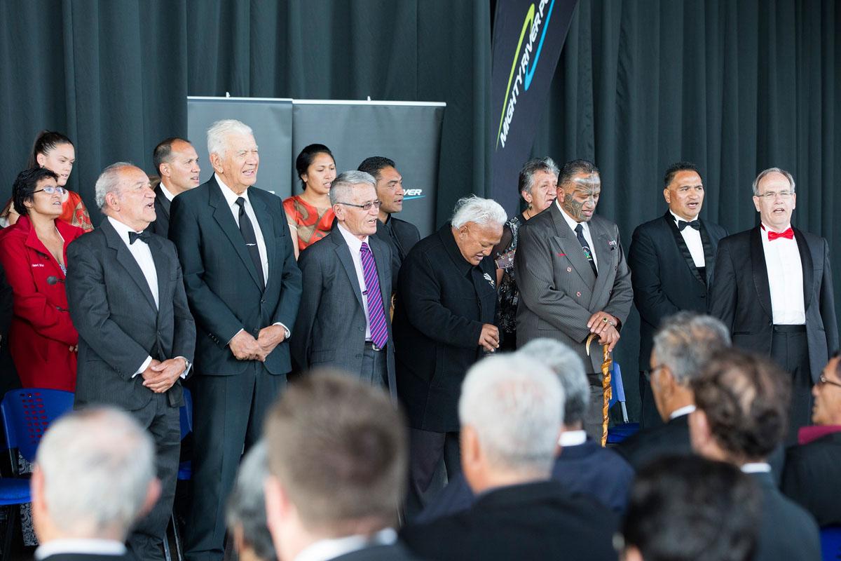 The Powhiri at the Maori Sports Awards 2014, Vodafone Events Centre, Manukau, Auckland, New Zealand, Saturday, November 29, 2014. Photo: David Rowland/Photosport