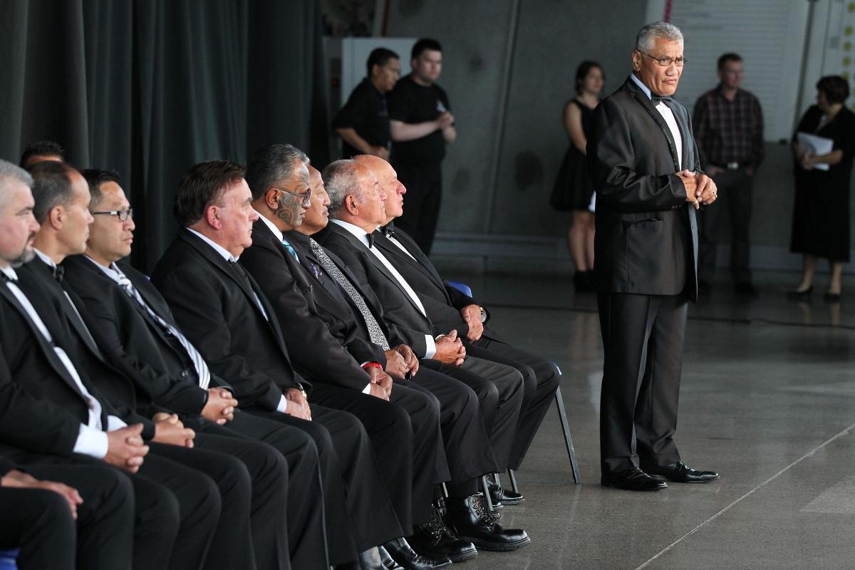 The powhiri at the 2013 Trillian Trust Maori Sports Awards at Vodafone Events Centre, Manukau. Photo: Fiona Goodall/photosport.co.nz