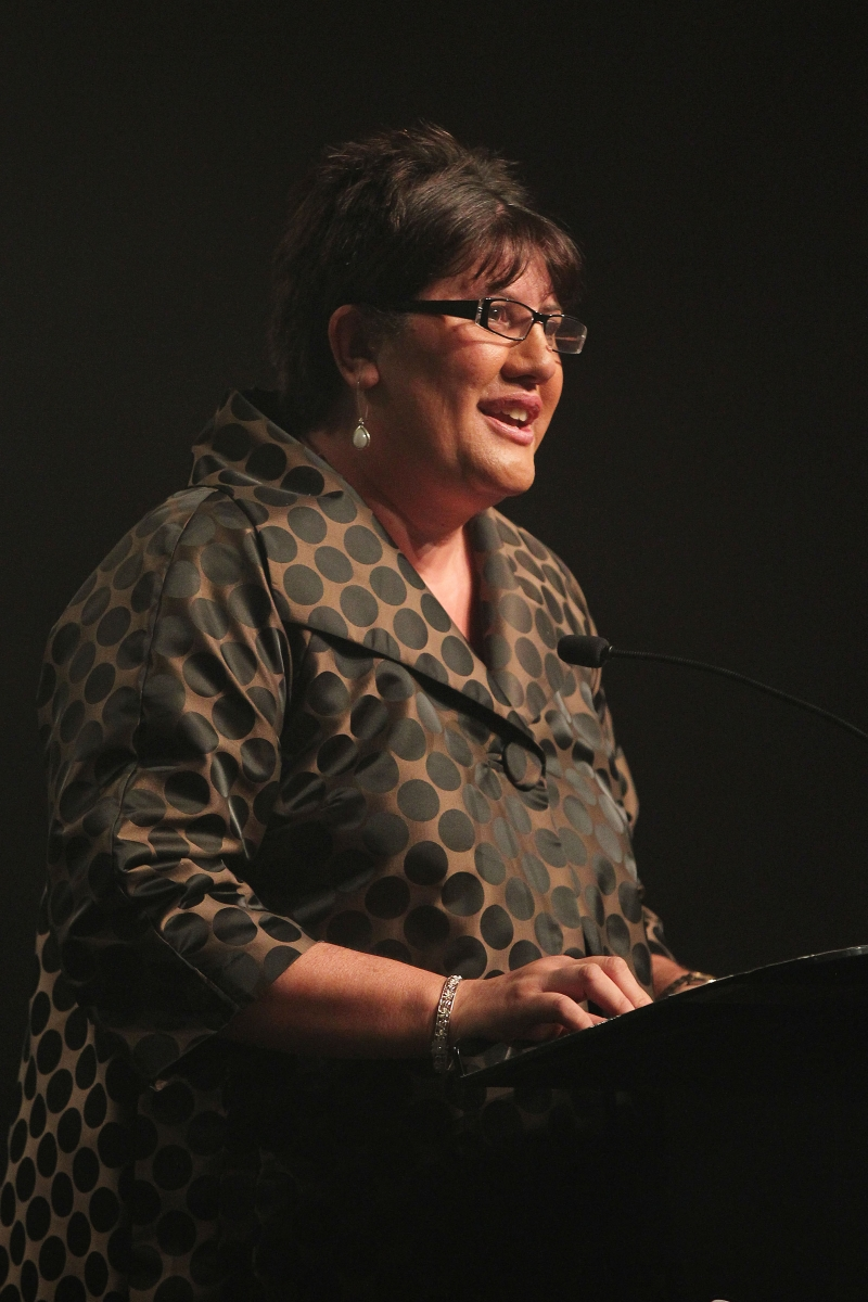 2013  Michelle Hippolite presents the individual Maori world champion awards at the Trillian Trust Maori Sports Awards at Vodafone Events Centre, Manukau. Photo: Fiona Goodall/photosport.co.nz