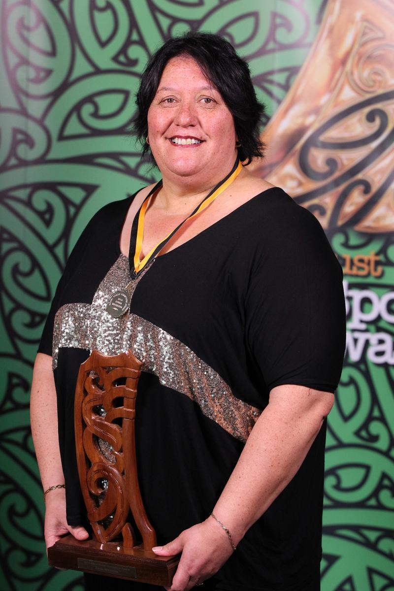 2013 Individual Maori World Champion powerlifter Sonia Manaena at the Trillian Trust Maori Sports Awards at Vodafone Events Centre, Manukau. Photo: Fiona Goodall/photosport.co.nz