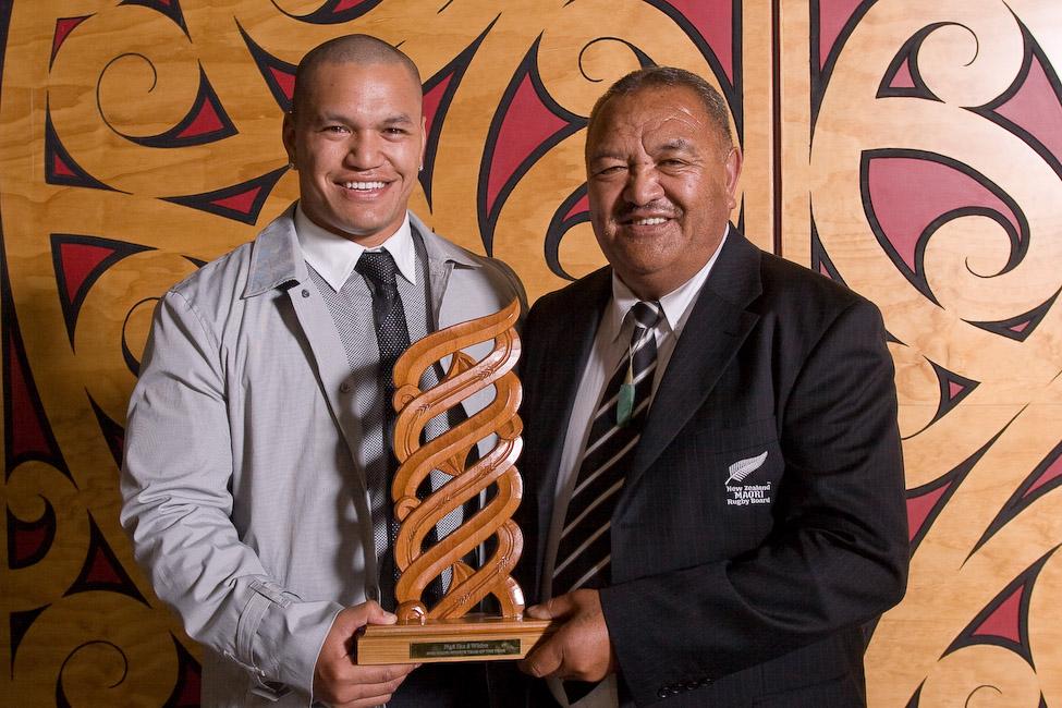 Hikawera Elliott and Whetu Tipiwai, NZ Maori Rugby (Maori Sports Team)