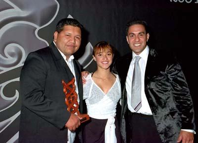 Te Whetu McCorkindale, Keisha Castle Hughes me Julian Wilcox – Māori Sports Media of the year